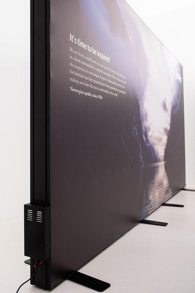 LED backlit lightbox