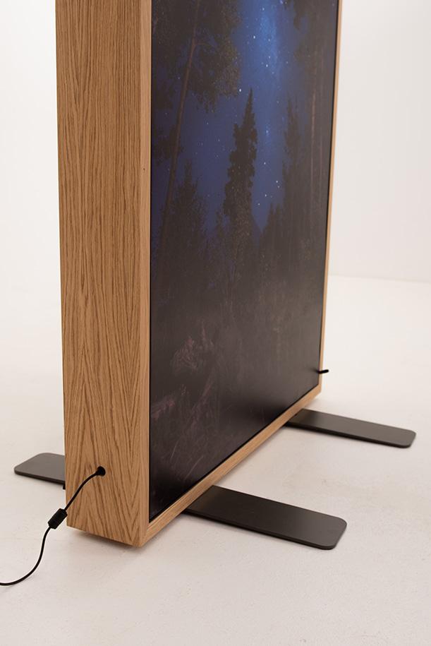 Wooden LED backlit light box
