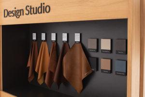 Wooden shop in shop stand and information platform