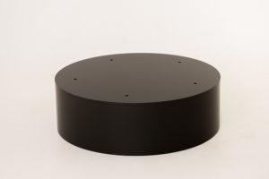 Black round furniture podium
