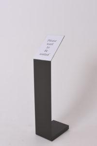 Standing display podium