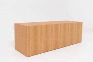 Wooden bench for indoor shop