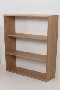 Wooden office shelf